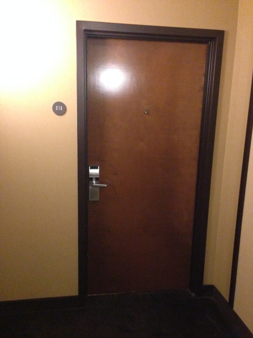 The door to my room, number 516