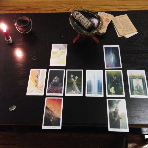 Quiet nights in with a tarot deck and a sage stick