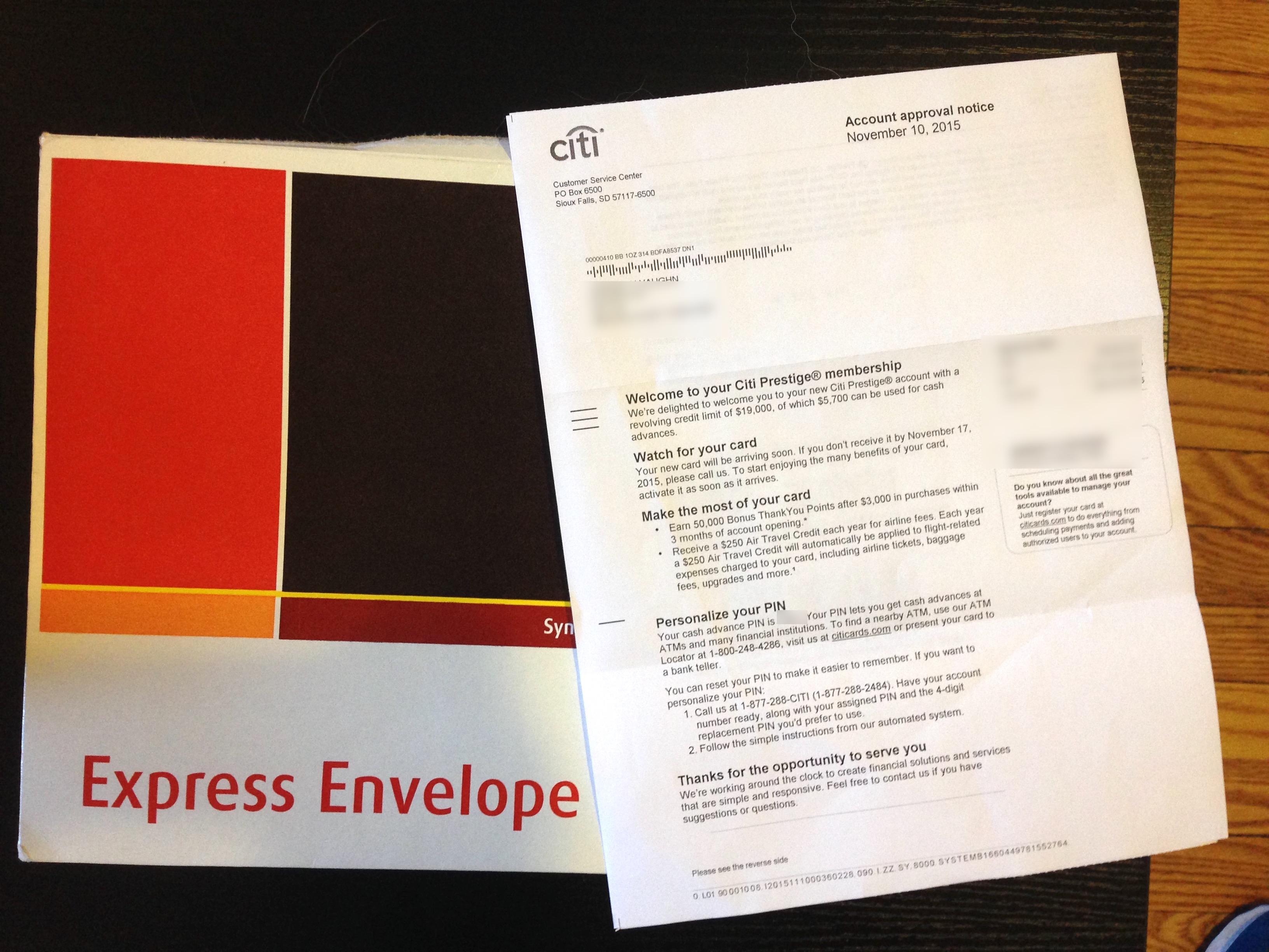 I\'m Prestigious! Getting Citi Prestige and First Impressions of ...