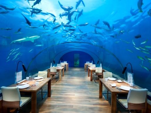 Underwater restaurant at