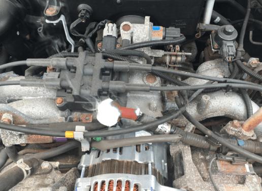 My burned-up, white-hot, still-smoking engine