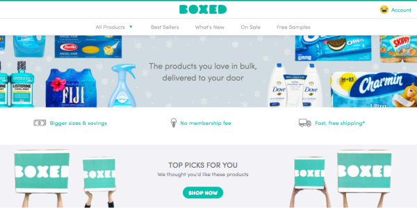 50% off at boxed