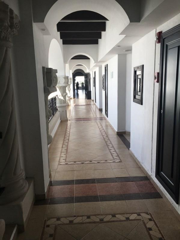 Hallways of the Hyatt Zilara Cancun