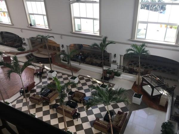 Overlooking the atrium