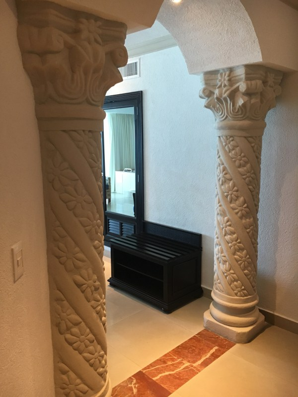 Closer shot of the columns