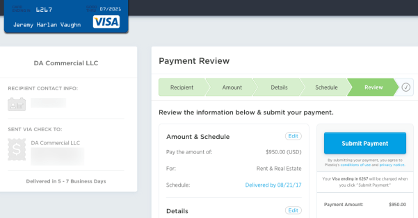 plastiq visa payments