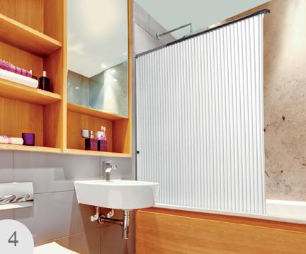 folding bath shower screen