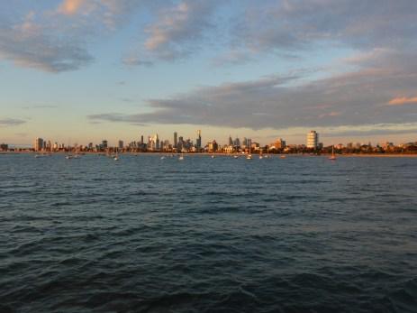 St. Kilda pier looking towards Melbourne CBD
