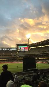 Melbourne Cricket Ground Sunset