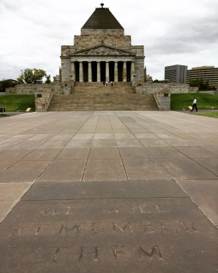"""The Shrine of Remembrance - """"We Will Remember Them"""""""