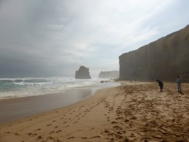 The Twelve Apostles from the beach