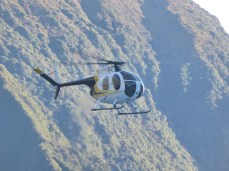 Helicopter shuttle to the glacier