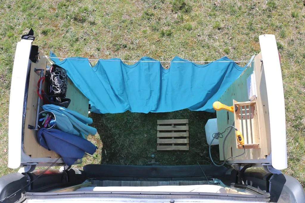 camper van shower toilets laundry