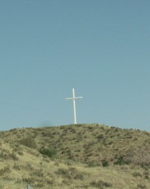 I'm not very religious. I just thought this was beautiful. It was pretty high up and the cross was big.