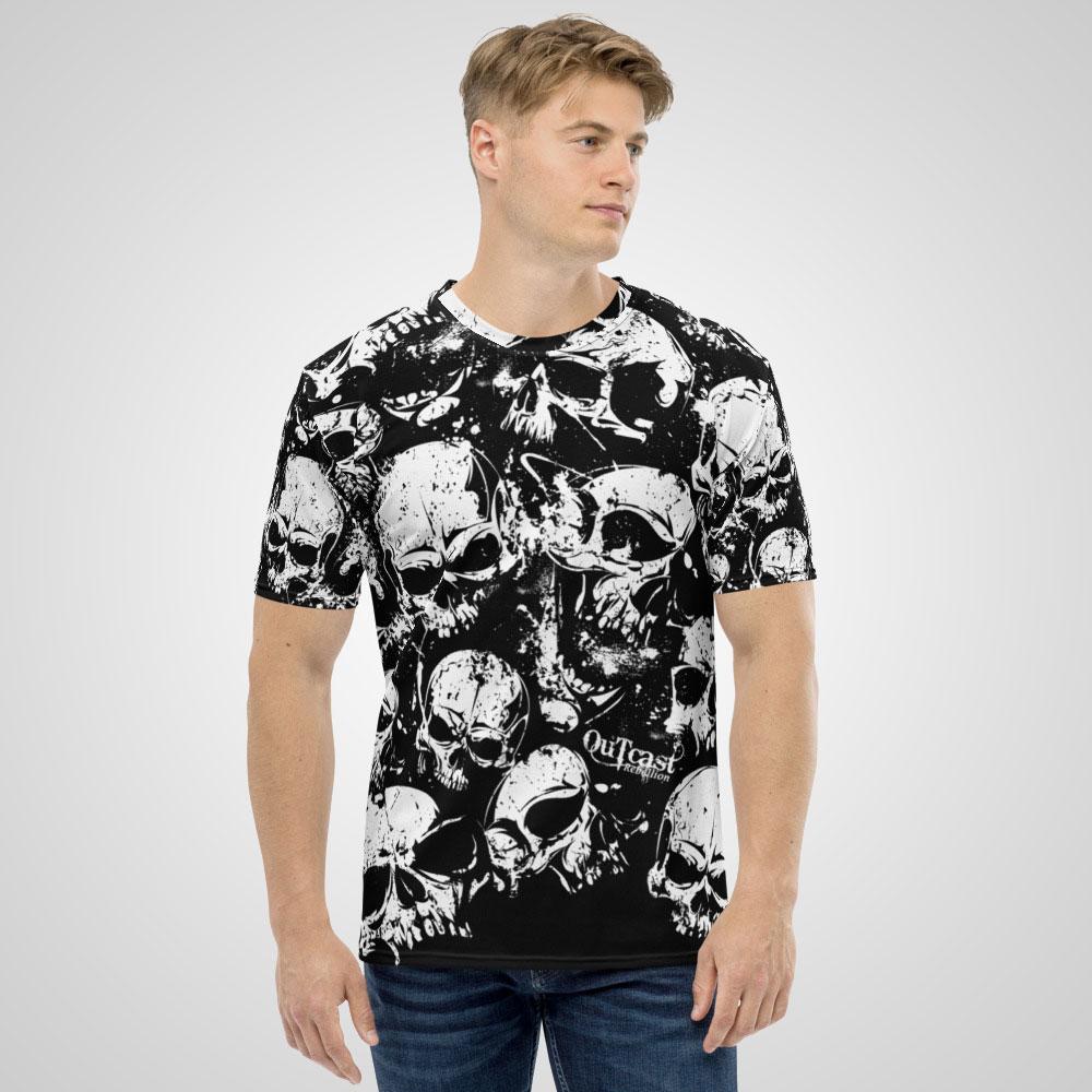 Them Bones T-Shirt All Over Print Outcast Rebellion