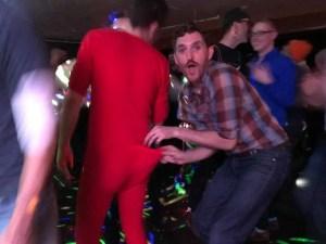 Hey Honey LGBTQ Ski Weekend Red Onsie Suprise