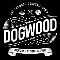 Dogwood Cocktail Cabin Logo with text cocktails kitchen nightlife