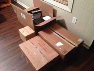 Boxes to go into storage.