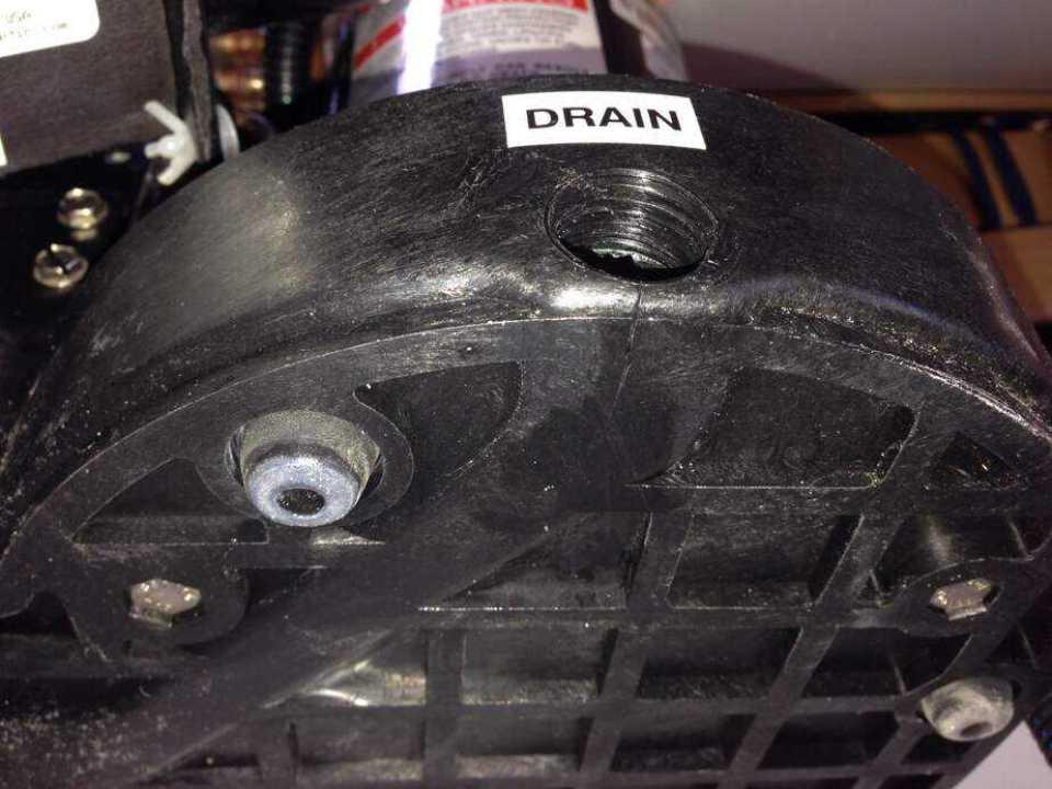 Crack in Drain Pan