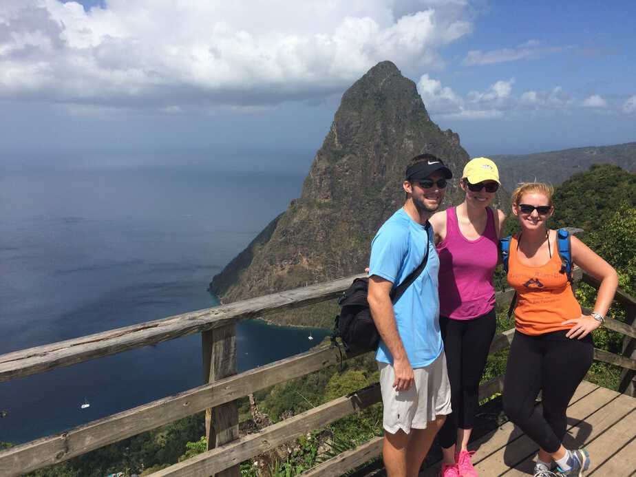Gros Pitons view from Tet Paul hike.