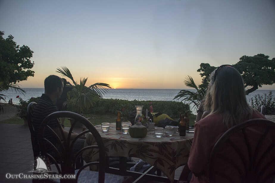 Dinner & sunset at Sandy Beach Resort, Foa Island, Ha'apai.
