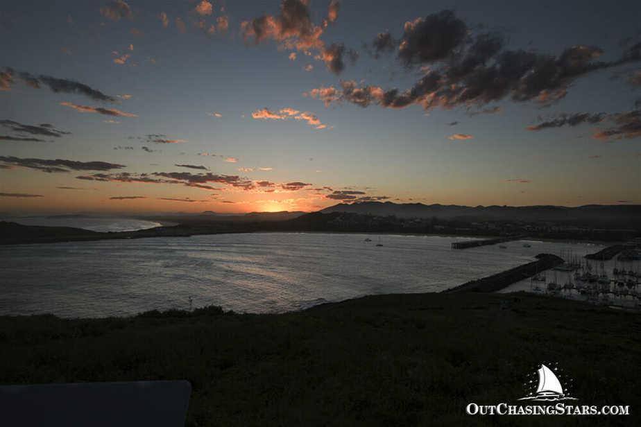 Sunset view from Mutton Bird Island in Coffs Harbour, Australia.