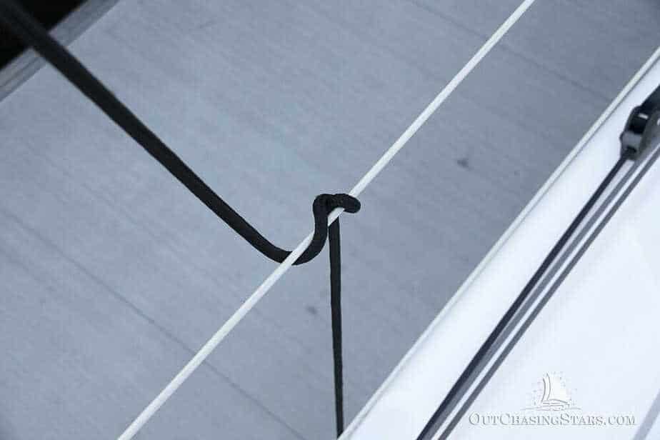 The clove hitch with a quick release is an important knot for cruisers to know.