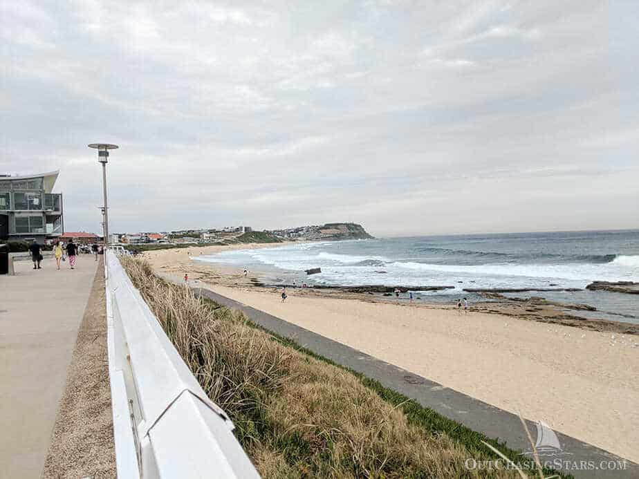 The view from the Mereweather Ocean Baths looking towards Newcastle.
