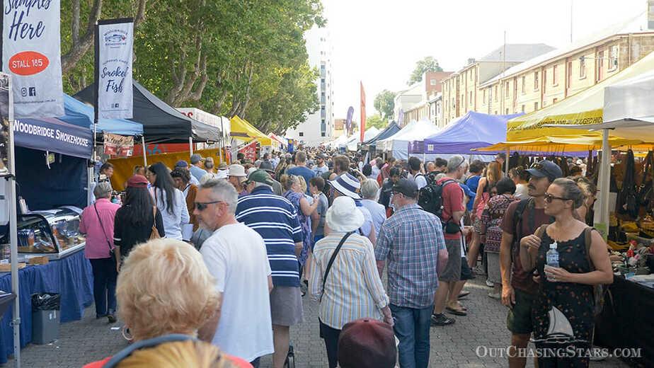 The Salamanca Market, Hobart, Tasmania.