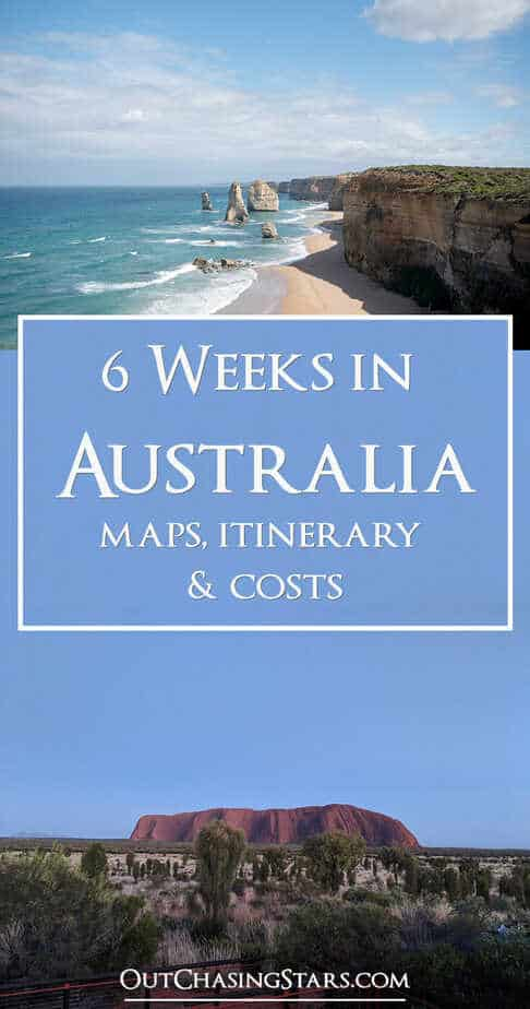 6 Weeks in Australia Itinerary Landscapes Pin