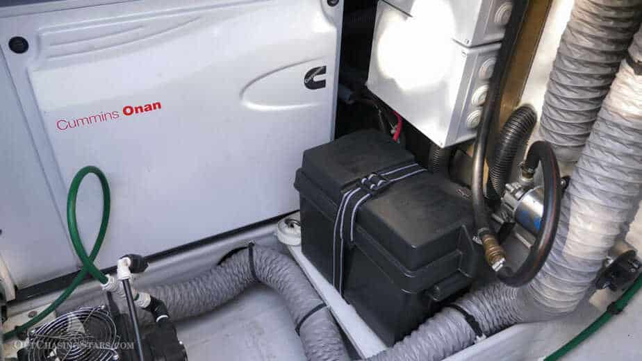 AGM generator start battery for sailboat