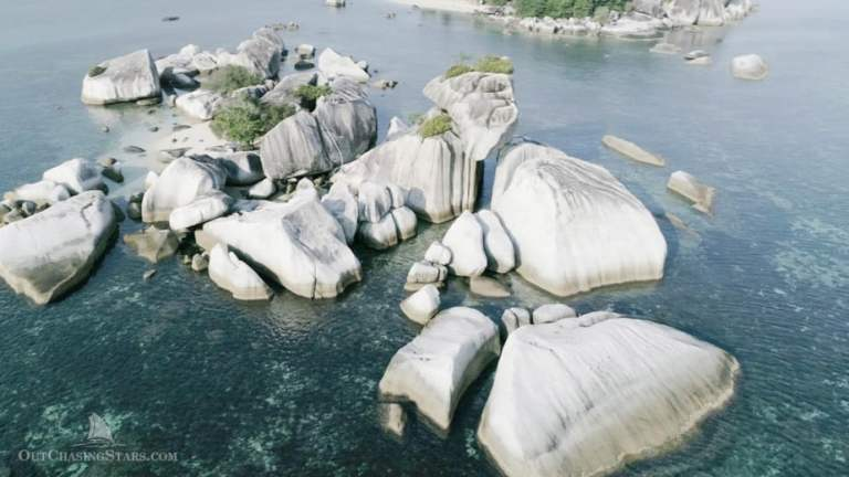 Exploring Granite Boulders in Belitung, Indonesia