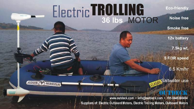 36lbs Trolling Motor boat