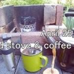 庭先アウトドアコーヒーで、久々のファイヤースティール