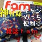 【キャンプ道具】雑誌fam付録は、つり下げ式ロールポーチ!