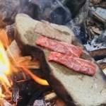 石焼きステーキ【サバイバル アウトドア料理】
