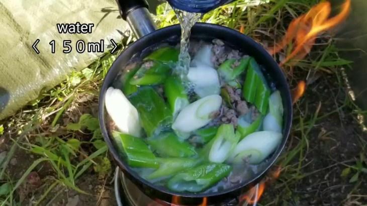 【 Wood pellet & Wild stove Cooking 】アウトドア料理 | ground beef original noodle
