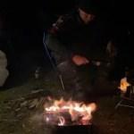 ソロキャンプ焚き火とスキヤキで乾杯ライブ放送