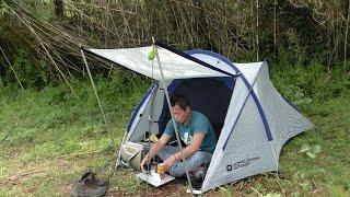 コクーンでソロキャンプ【豚バラ串とお酒を飲む】【庭】 Solo camp at Cocoon [Drink pork belly skewer and sake] [Garden]