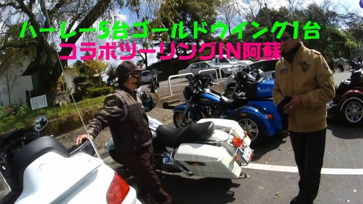 ハーレー熊本6台コラボツーリングIN阿蘇