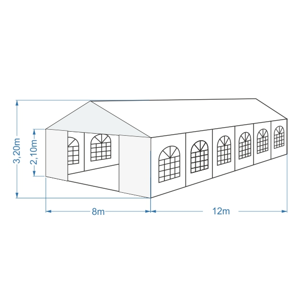 namiot bankietowy 8x12