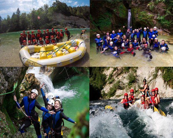 Canyoning Rafting Bled Lake adventure activity