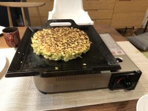 鉄板工房(MM Farctoy)極厚鉄板 12mm MSサイズでお好み焼きを調理