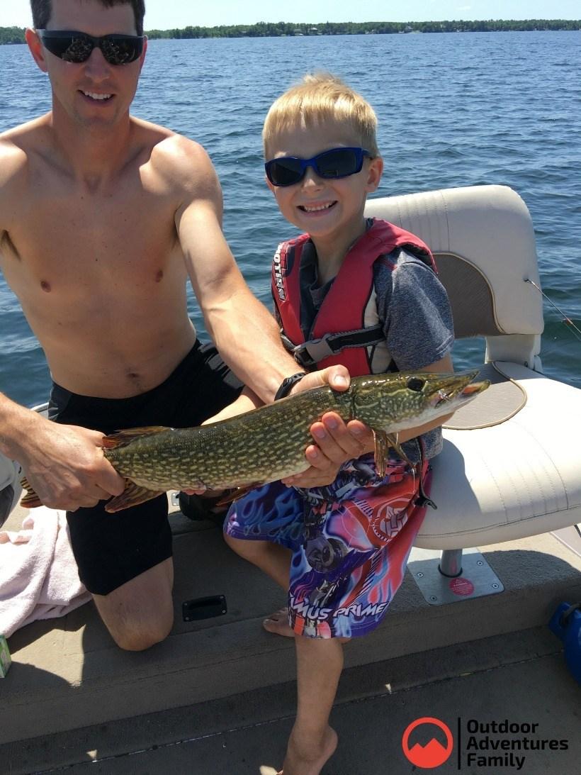 Catching fish on Gull Lake