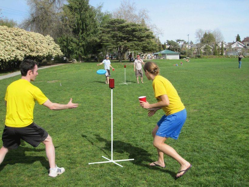 Camping game frisbee golf set