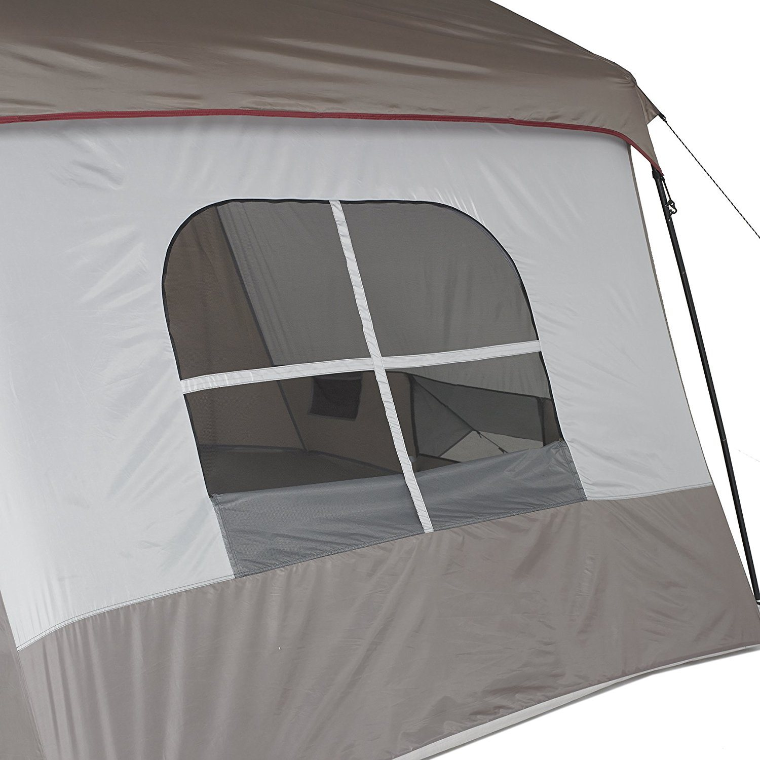 Wenzel 8 Person Klondike family tent window & Wenzel Klondike 8 Person Family Tent u2013 Review u0026 Rating