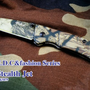 "Steel: 7Cr17MoV Handle: 7Cr17MoV Coating: Stripe camo Length: Overall: 6""(152mm), Blade: 2.6""(67mm) Lock Style: Liner lock Hardness: HRC 58 Weight: 2.3oz (66g)"