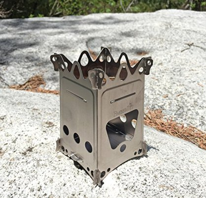 Emberlit Fireant Stainless Steel Stove- Lightweight, Multi-Fuel stove