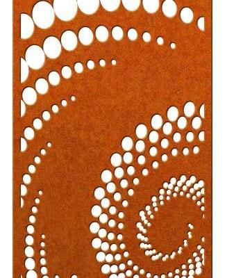 Corten steel halftone pattern screen space New Zealand
