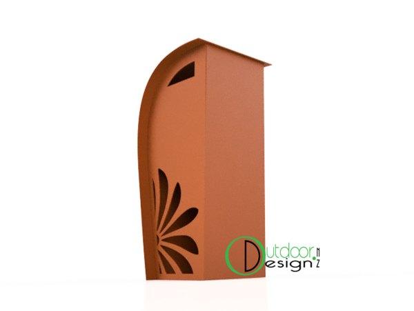 Rusted patina mail box nz Tauranga